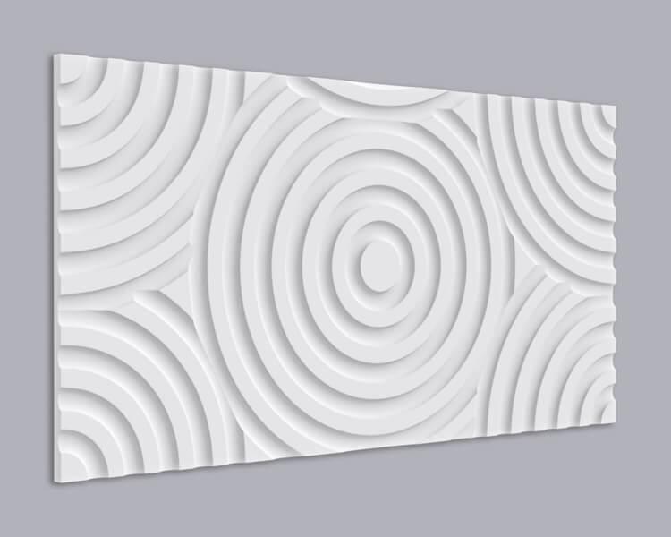 3D Wandpaneel Holz 009 mit Kreis Muster