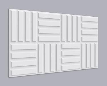 3D Wandpaneel MDF 010 mit Rechteck Muster