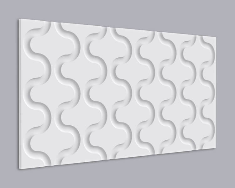 3D Wandpaneel MDF 011 mit Schlangen Muster
