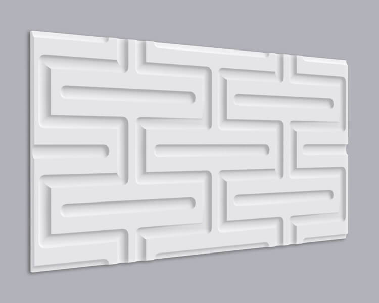3D Wandpaneel MDF 013 mit quadratischer Schlangenform