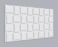 3D Wandpaneel MDF 017 mit geschwungenen Quadrate