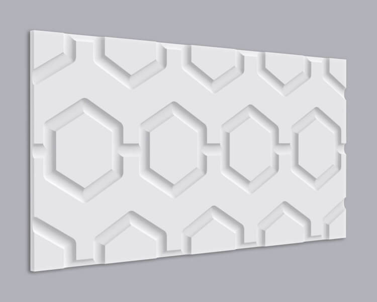 3D Wandpaneel MDF 019 mit Hexagon Muster