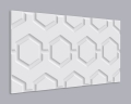 3D Wandpaneel MDF 019 mit Hexagon Muster