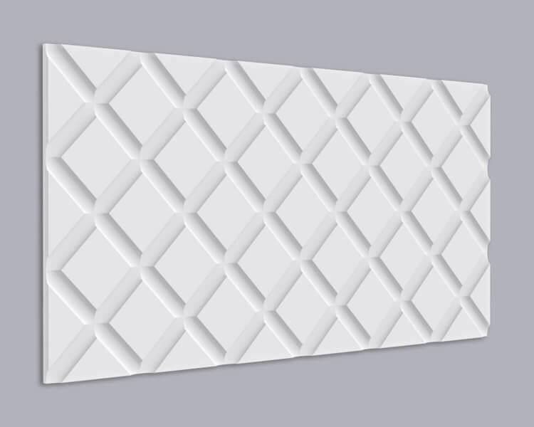 3D Wandpaneel MDF 023 mit Karo Muster