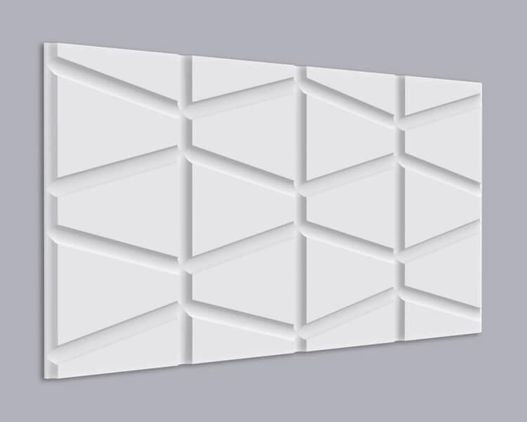 3D Wandpaneel MDF 025 mit Zylinder Form