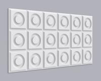 3D Wandpaneel MDF 026 mit Kreis im Quadrat Muster