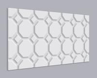 3D Wandpaneel MDF 027 mit Oktagon Muster