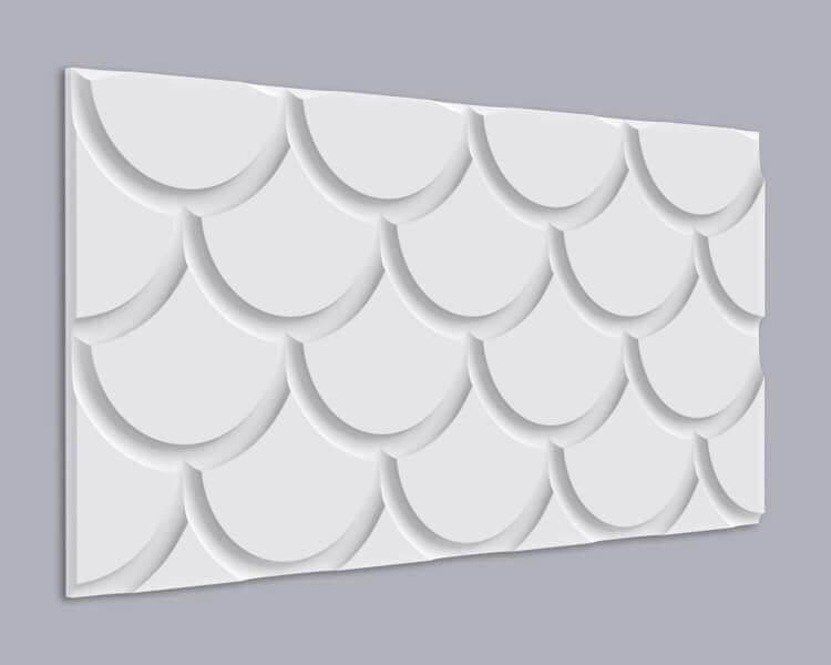 3D Wandpaneel MDF 029 mit Muschel Muster