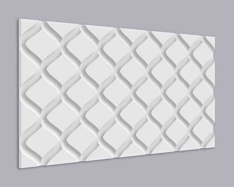 3D Wandpaneel MDF 030 mit Rauten Muster