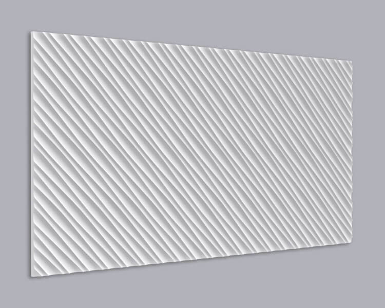 3D Wandpaneel MDF 031 mit Diagonalem Muster