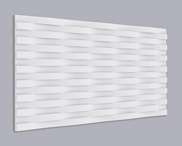 3D Wandpaneel MDF 032 mit Rattan Muster