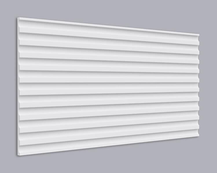 3D Wandpaneel MDF 033 mit Streifen Muster