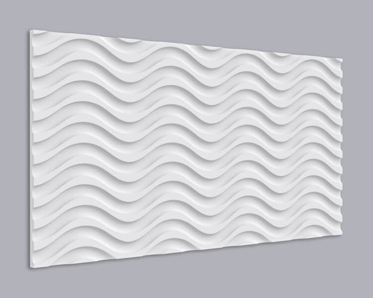 3D Wandpaneel MDF 034 mit Wellen Muster