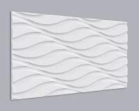 3D Wandpaneel MDF 035 mit Wellen Muster