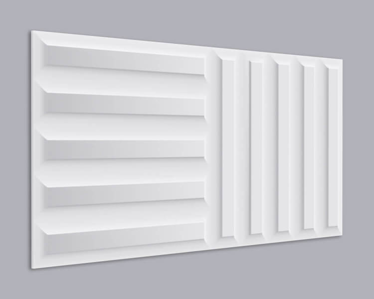 3D Wandpaneel MDF 037 mit Linien Muster