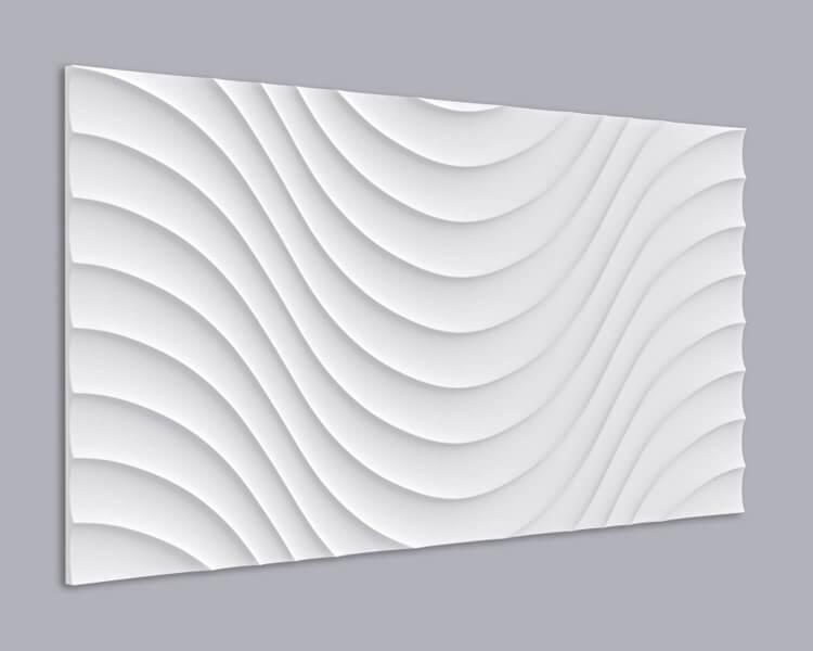 3D Wandpaneel MDF 038 mit großem Wellen Muster