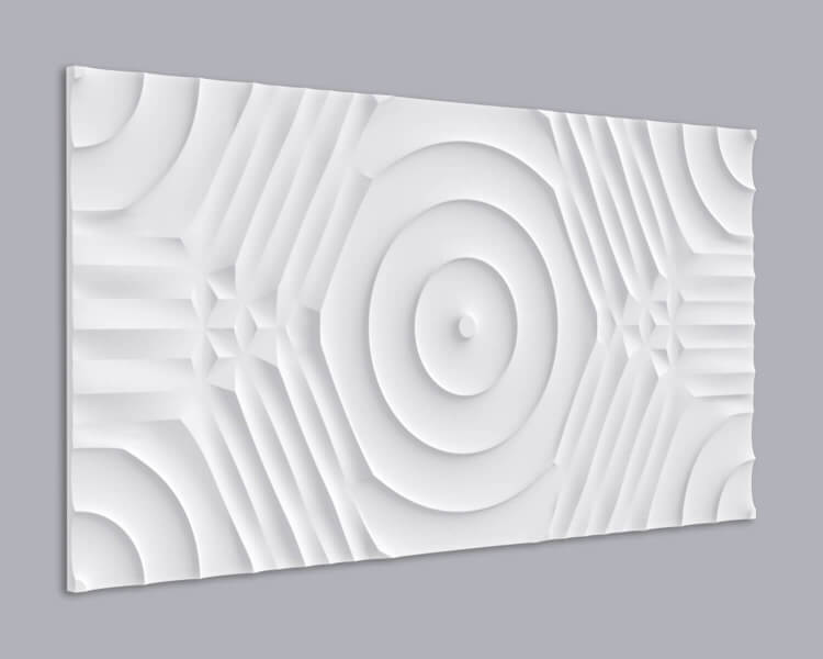3D Wandpaneel MDF 045 aus MDF-Holz