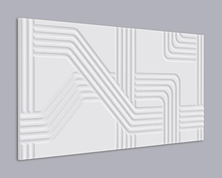 3D Wandpaneel MDF 063 aus MDF-Holz
