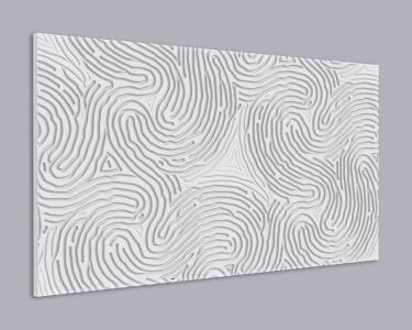 3D Wandpaneel MDF 076 aus MDF-Holz