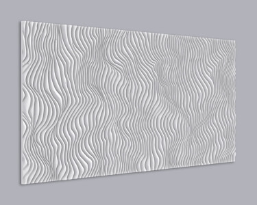 3D Wandpaneel MDF 077 aus MDF-Holz