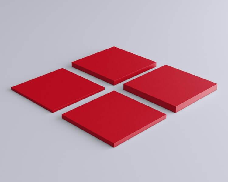 Weiches 3D Wandpaneel Quadrat Pixel von fluffo