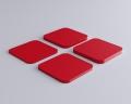 Weiches Wandpaneel Tele Quadrat mit abgerundeten Ecken von fluffo