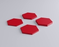 Weiches 3D Wandpaneel Hexa in Hexagon form von fluffo