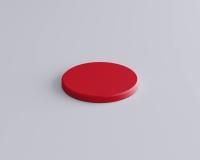 Weiches 3D Wandpaneel Dot edge in Kreisform form und abgeschrägten Kanten von fluffo