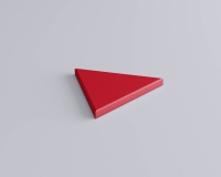 Weiches 3D Wandpaneel Dreieck Triada edge mit abgeschrägten Kanten von fluffo