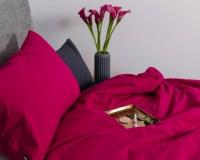 Pinke Baumwoll-Kinderbettwäsche in Uni Farben