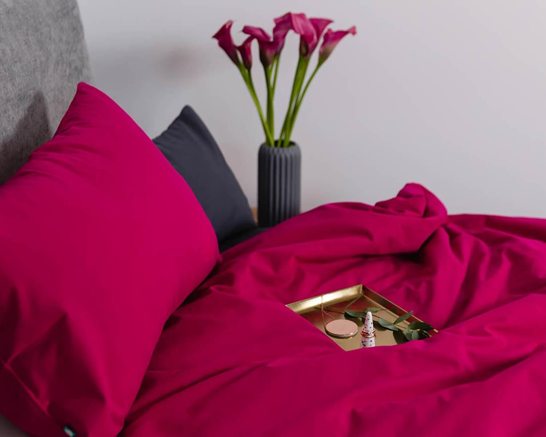 kinderbettw sche pink uni farbe hochwertige baumwolle. Black Bedroom Furniture Sets. Home Design Ideas