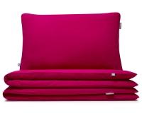 Kinderbettwäsche pink uni aus hochwertiger Baumwolle