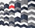 Kreative 3D Wand aus 3D Paneelen Chevron