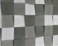 Abgeschrägtes Quadrat Wandpaneel Cube für perfekte Schalldämmung