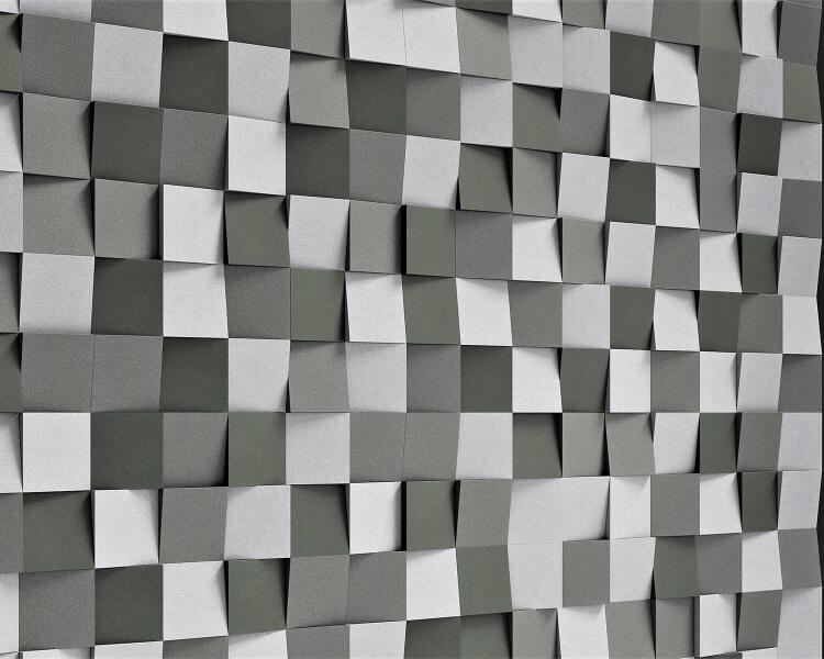 Kreative Schalldämmung aus weichen 3D Paneelen Cubic