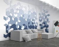 3D Wandpaneele Wohnzimmer Diamond edge mit schrägen Kanten