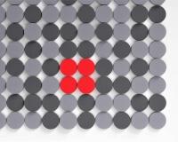 3D Wände aus weichen Kreisen fluffo Dot