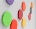 Runde Akustikpaneele Dot edge fluffo für 3D Wände