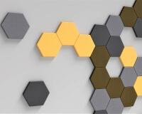 Hexa edge Wandpaneel für 3D Wände fluffo