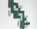 3D Wand aus Rechtecken Line fluffo