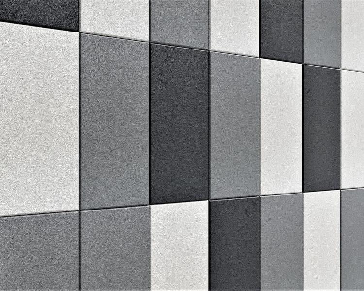 3D Wandpaneel Line edge mit abgeschrägten Kanten von fluffo