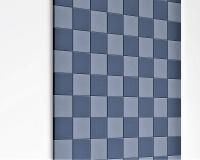 Kleine 3D Wandpaneele Pixel edge mit schrägen Ecken