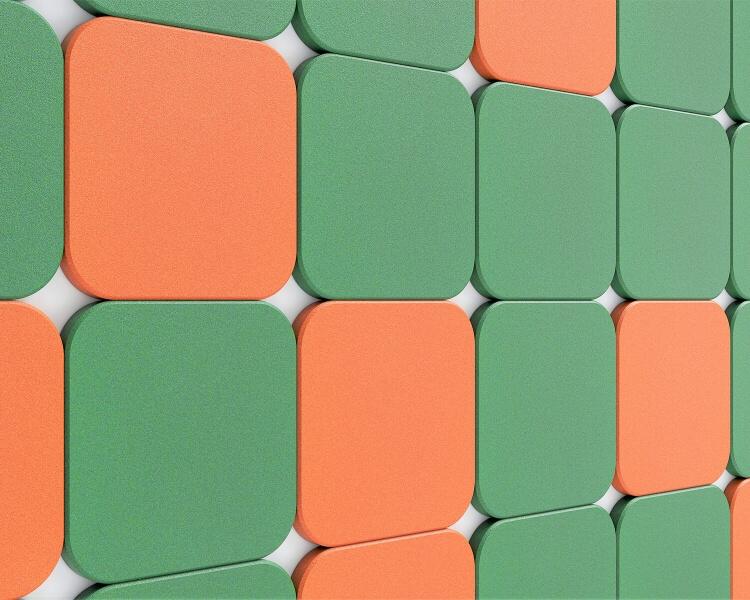 3D Paneele Tele edge von fluffo Quadrat mit runden Ecken