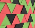 3D Wände aus weichen Dreiecken Triada