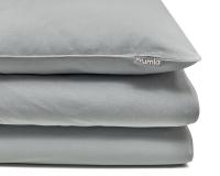 graue Baumwoll-Kinderbettwäsche in Uni Farben