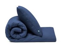 blaue Baumwoll-Kinderbettwäsche in Uni Farben