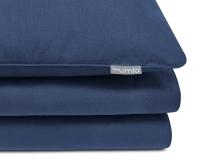 Schöne Kinderbettwäsche in uni blau aus zertifizierter Baumwolle