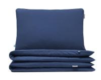 Kinderbettwäsche blau uni aus hochwertiger Baumwolle