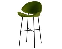 Barhocker grün Cheri Bar auf schwarzem Fußgestell von Iker