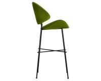 Hocker grün Cheri Bar auf schwarzem Fußgestell von Iker